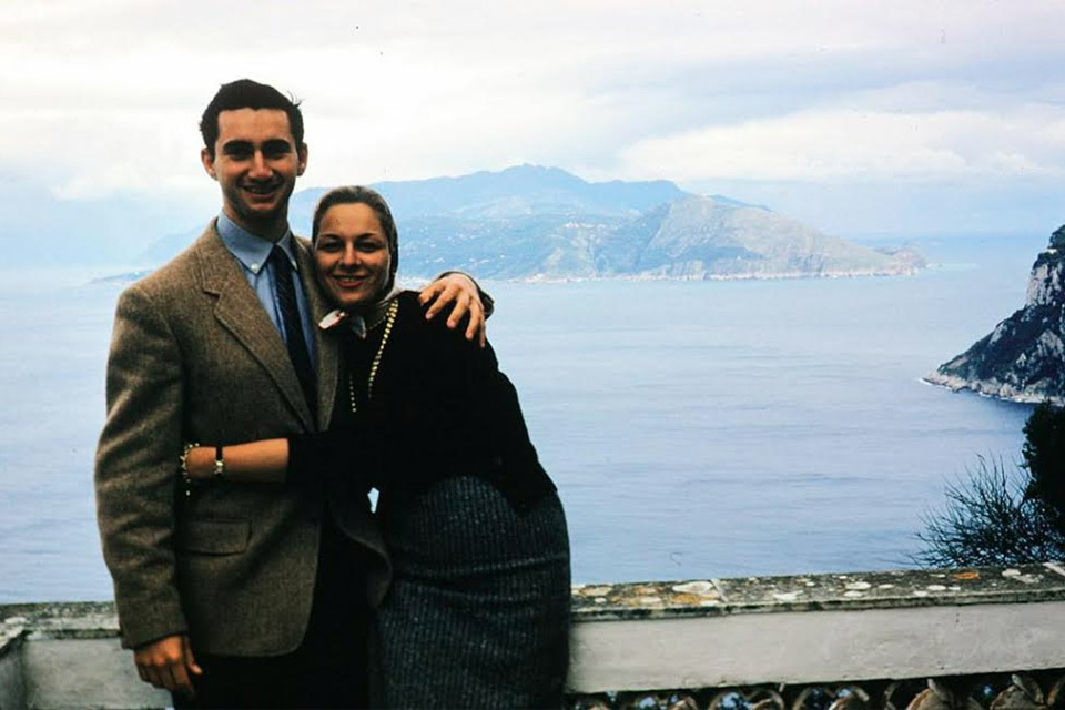 Leni and Preston during their Italy honeymoon in 1957